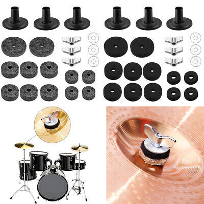 21pcs/set Cymbal Felt Replace Accessories Hi-Hat Wing Nuts Washer Sleeve F. Drum • 6.74£