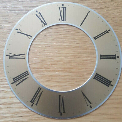 £6.95 • Buy 3.5 (3 1/2) Inch Chapter Ring Clock Zone Dial Face - Gold - 97mm Roman - CR10