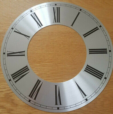 £9.95 • Buy 9.5 (9 1/2) Inch Chapter Ring Clock Zone Dial Face - Silver 239mm Roman Num CR31