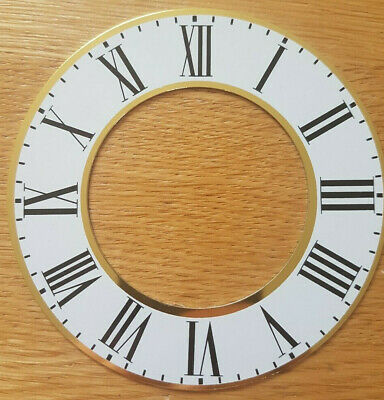 £6.95 • Buy 3.5 (3 1/2) Inch Chapter Ring Clock Zone Dial Face - White + Gold 94mm - CR11