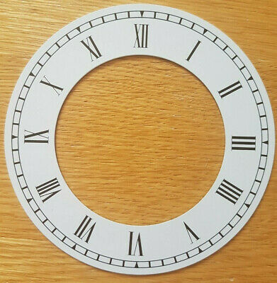 £7.95 • Buy NEW - 4 Inch Chapter Ring Clock Zone Dial Face - White Roman Numeral 102mm CR15