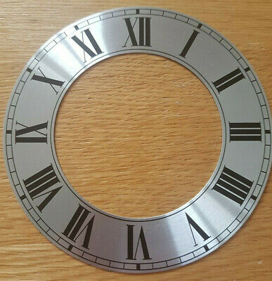 £8.95 • Buy NEW - 4 Inch Chapter Ring Clock Zone Dial Face - Silver Roman Numeral 103mm CR13