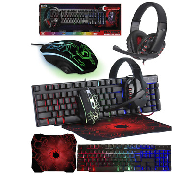 AU96.53 • Buy Gaming Keyboard And Mouse And Mouse Pad And Gaming Headset