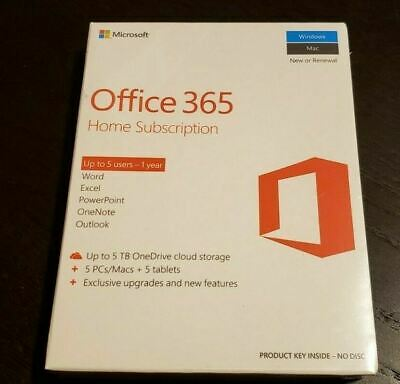 AU105.55 • Buy New Sealed Microsoft Office 365 Home Premium 1 Year Subscription