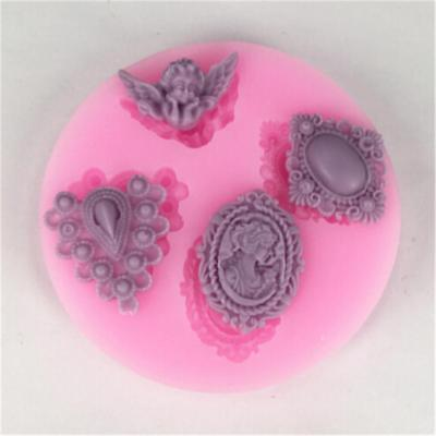 Candy Cake Decorating Angel Gem Mold Cooking Crystal Silicone Chocolate Mould • 2.60£