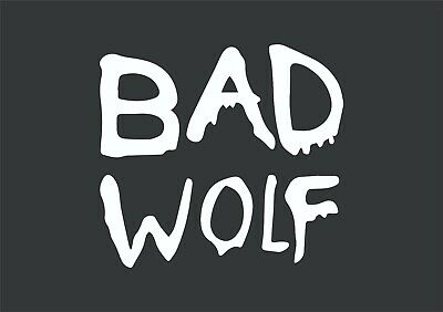 £3.35 • Buy Dr Who Bad Wolf Sticker Vinyl Decal Car Bike Laptop Wall Doctor Who