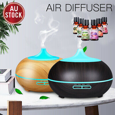 AU22.99 • Buy Aroma Aromatherapy Diffuser LED Essential Oil Ultrasonic Air Humidifier Purifier