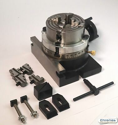 Soba 4  / 100MM Rotary Table C/w Tailstock , Clamp Kit & Chuck 111055 MILLING • 159.95£