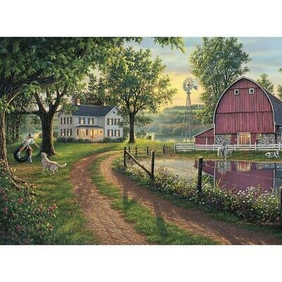 AU15.38 • Buy 5D Full Drill Diamond Painting Countryside  Cross Stitch Kits Arts Decor Gifts