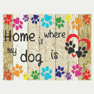 AU16.38 • Buy 5D Full Drill Diamond Painting Dog Footprint Cross Stitch Kits Arts Decor Gifts