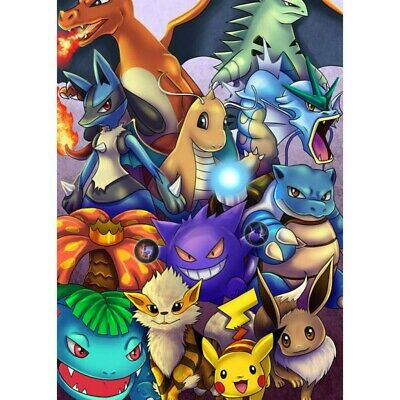 AU16.88 • Buy 5D Full Drill Diamond Painting Embroidery Kits Decors Mural Pokemon Cartoon Art