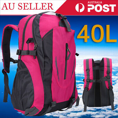 AU25.09 • Buy 40L Large Waterproof Backpack Camping Cycling Hiking Travel Sport Bag AU Stock