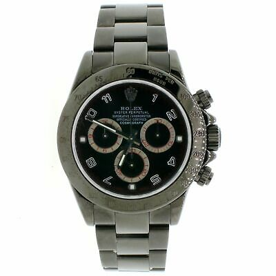 $ CDN24830.06 • Buy Rolex Cosmograph Daytona Black PVD Black Dial 40MM Mens Oyster Watch 116520