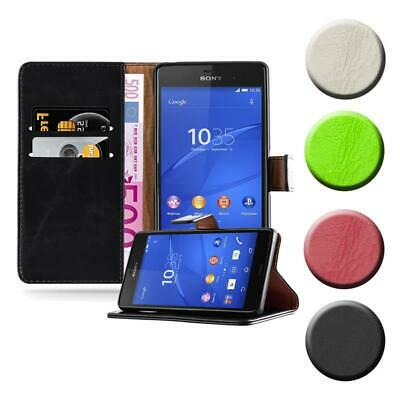 $ CDN12.22 • Buy Case For Sony Xperia Z3 Phone Cover Luxury Protective Wallet Book
