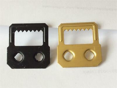 Sawtooth Hangers Self Fix Gold Plated Or Black 28mm Picture Frame Hooks Framing • 2.60£