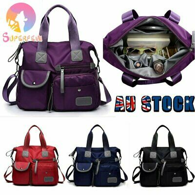AU27.99 • Buy Womens Nylon Large Capacity Waterproof Shoulder Bag Crossbody Handbag Travel Bag