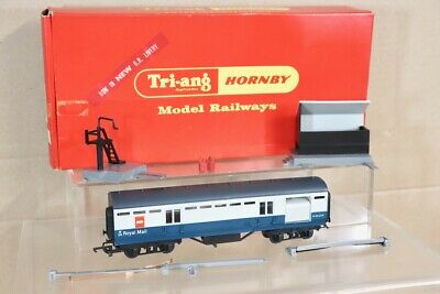 HORNBY R402 BR BLUE GREY OPERATING ROYAL MAIL CAR COACH SET M30224 BOXED Nx • 39.50£