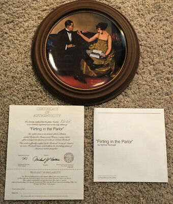 $ CDN4.37 • Buy Norman Rockwell Collector Plates Flirting In The Parlor Rediscovered Women W COA