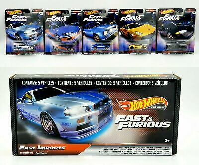 AU49.99 • Buy Hot Wheels Fast And Furious Fast Imports Set Of 5 Cars Premium