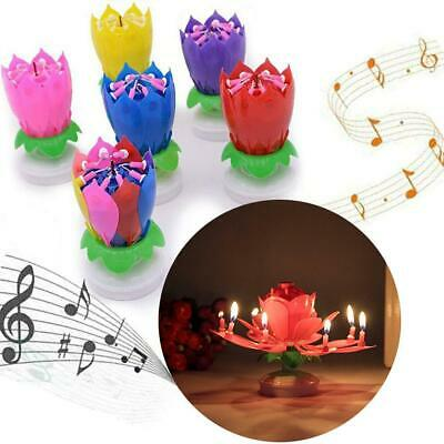 $ CDN5.20 • Buy Magic Cake Happy Birthday Lotus Flower Candle Blossom Music Gift Double Layer
