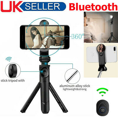 Bluetooth Selfie Tripod Stick Remote Telescopic Monopod Phone Stand Extendable • 7.99£