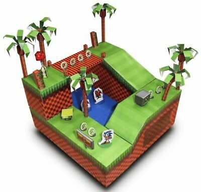 Lockdown Activity Paper Craft Sonic The Hedgehog Green Hill Zone • 9.95£