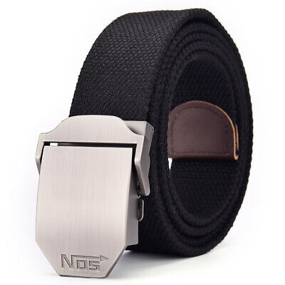 £7.99 • Buy Mens Womens Ladies Thick Canvas Belts Casual Automatic Buckle Free Size UK Stock