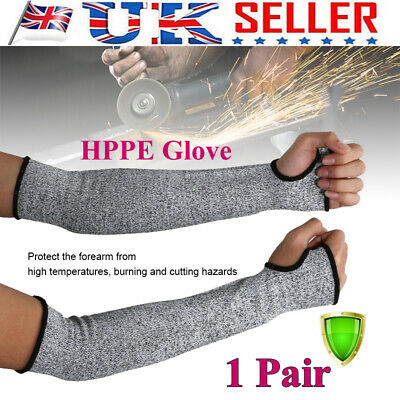 1 Pair Safety Protective Arm Sleeve Guard Cut Proof Anti Cut-Resistant Gloves UK • 8.49£