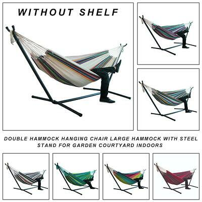 Double Hammock Hanging Chair Large Hammock Without Steel Stand For Garden • 25.79£