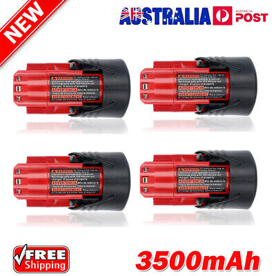 AU30.49 • Buy 3.5Ah For Milwaukee M12 Battery 12V M12B2 Lithium-Ion 48-11-2411 48-11-2430 Pack