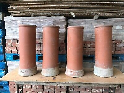 Set Of 4 Reclaimed Red Clay Chimney Pots • 180£