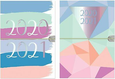 2020 2021 A5 Academic Diary Week To View Student Diary Flexi-Cover With Elastic • 3.69£