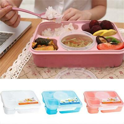 For Kids Adult Lunch Box Leakproof Bento Box 5 Compartments Picnic Box Case LR • 6.49£