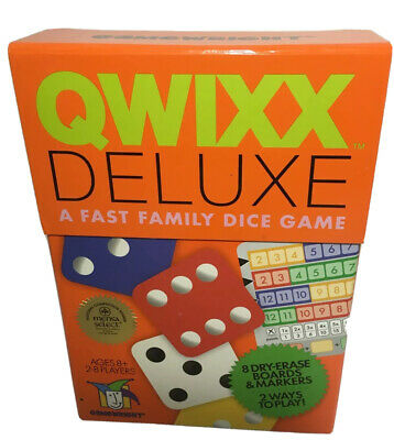 $ CDN20.19 • Buy Qwixx Deluxe~Fast Family Dice Game~BY Gamewright~New/Sealed~ Mensa Select~Age 8+