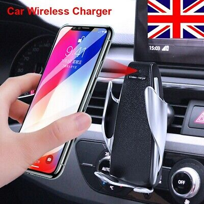 2 In 1 Qi Fast Charging Car Charger Wireless Automatic Sensor Vent Phone Holder • 9.59£