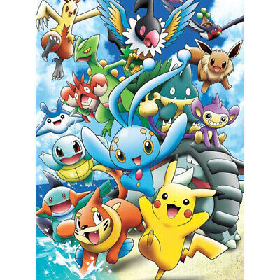 AU16.49 • Buy AU Stock 5D Full Drill Pikachu Diamond Painting Embroidery Diy Cross Stitch Kits
