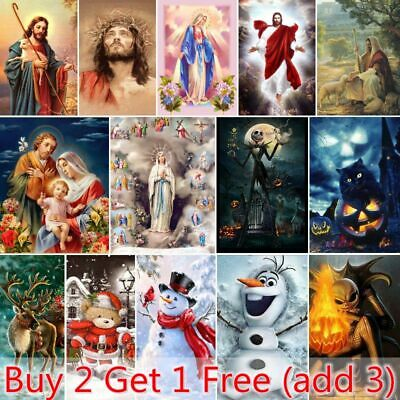 AU16.39 • Buy Christmas Gifts 5D Full Drill Diamond Painting Kits Embroidery Home Art Decors