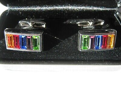 Marks & Spencer Cufflinks Autograpgh Crystallized Swarovski Elements Men Womens • 14.50£