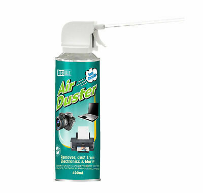 400ml Compressed Air Duster Can Cleaner Spray Trigger Straw Fan Keyboard Cans • 7.99£