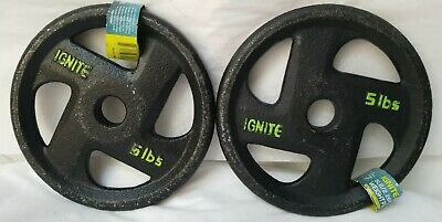 $ CDN57.60 • Buy 2- 5lb Weight Plates Disk Barbell Ignite (10lbs Total)