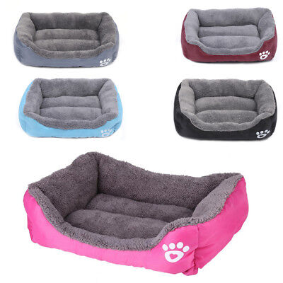 Pet Dog Cat BED Puppy Cushion House Soft Warm Kennel Mat Blanket Washable Beds • 16.95£