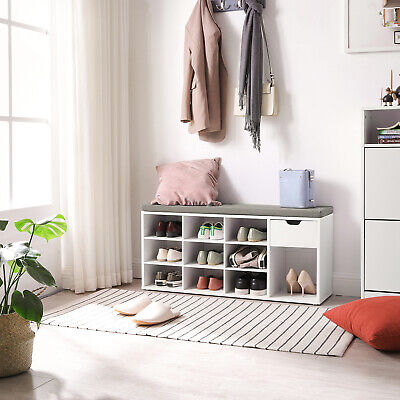 £57.99 • Buy Shoe Bench,  Shoe Shelf,Storage Bench With Drawer And Compartments, LHS24WT