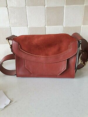 M & S Autograph Leather & Suede Tan  Shoulder Bag • 18£