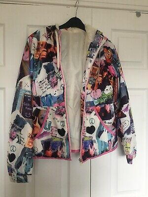 Unusual H&M Lightweight Jacket Funky Print, Shell Suit Style Jacket Size 12 • 5£
