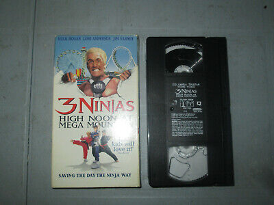 $ CDN7 • Buy 3 Ninjas - High Noon At Mega Mountain (VHS) Tested Hulk Hogan
