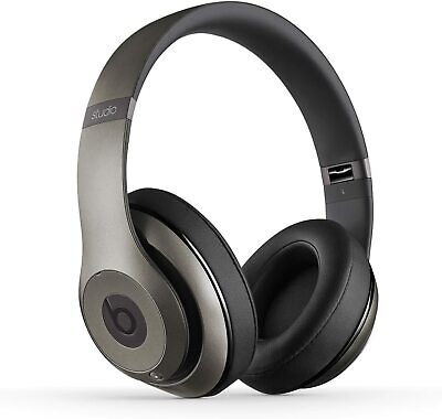 Beats By DRE Studio 2.0 WIRED NO-Bluetooth Headphones Titanium Champagne N • 74.90£