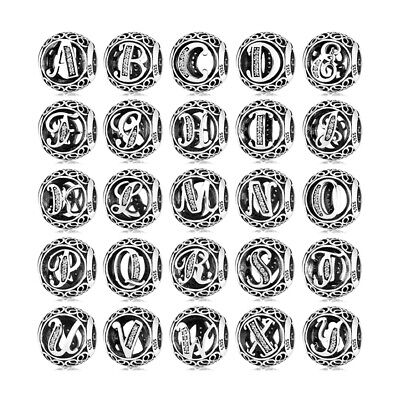 AU18.26 • Buy New 925 Sterling Silver Pandora LETTER Charms Initial Character Alphabet