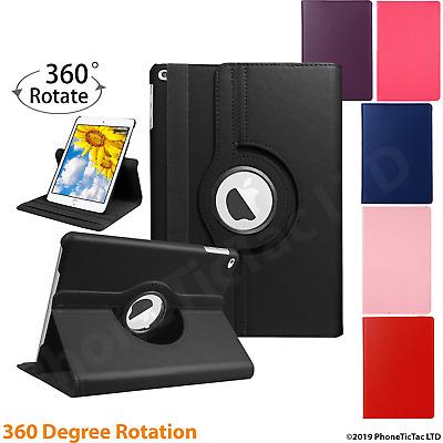 £5.94 • Buy Leather 360 Rotating Smart Case Cover Apple IPad Air 2 Pro 12.9 Air 10.9 Mini 5