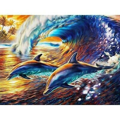 AU16.49 • Buy Round Drill 5D Diamond Painting Embroidery Dolphin Craft Art Decoration