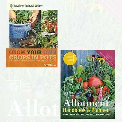 £19.90 • Buy Allotment Handbook, RHS Grow Your Own 2 Books Collection Set NEW